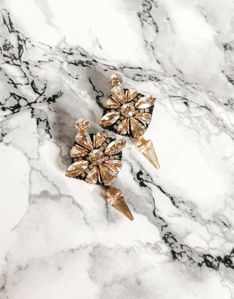 Auskarai iš swarovski kristalų