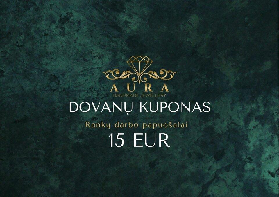 15 Eur dovanų čekis